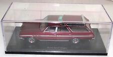 BoS Models 1:43 1965 Buick Sport Wagon Met. Maroon Red Mint in Case Resin