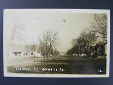 Woodbine Iowa IA Residence Street Houses Real Photo Postcard RPPC 1908