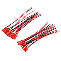 H1 10 Pairs 150mm JST Connector Plug Cable Male+Female for RC Battery