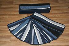 18 Blue Stripey Carpet Stair Case Treads Pads Large Stripe Pad Mexico Stripe