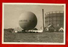 PEOPLE and HOT-AIR BALLOON VINTAGE PHOTO POSTCARD 759