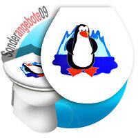 Toilettenaufkleber Pinguin Toilettensitz Sticker AUFKLEBER WC 32 x 38 cm