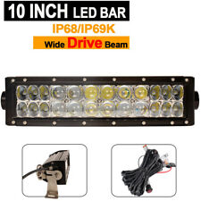 10INCH 72W CREE LED Work Light Bar Spot/Flood for Offroad SUV Car Boat 4WD truck