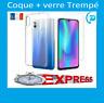 Coque +Vitre Protection écran Verre Trempe Huawei Y5/Y6/Y7 2019/Y6 Prime 2019