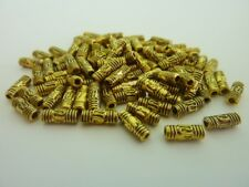 160 pce Antique Gold Etched Metal Tube Spacer Beads 8mm x 3mm Jewellery Making