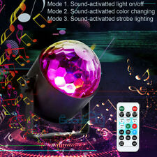 Rechargeable Strobe Lamp DJ Rotating Ball LED Stage Laser Light Disco Club Party