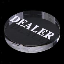 Acrylic Poker Dealer Buttons for Casino Poker Card Game Diameter 56mm Clear