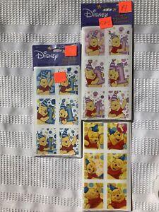 Winnie the Pooh 1st Birthday Stickers