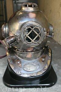 Copper Brass Diving Helmet 18 Inch US Navy Mark IV Vintage Divers Helmet Gift