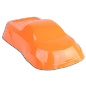 Powder Coating Paint Fluorescent Orange ONE STEP  1LB (.45KG)