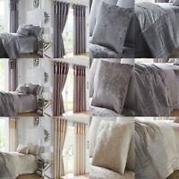 Boulevard Duvet/Quilt Cover Set Bedding Linen Crushed Velvet Curtains or Throw