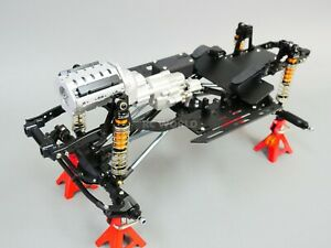 RC 1/10 TRUCK CHASSIS  2- Speed V8 Engine Metal Rolling Chassis
