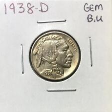 1938 D Buffalo Nickel ~*Gem BU* ~ Boldly Detailed Original Coin