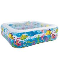 Kids Inflatable Square Play Swimming Centre Paddling Pool Outdoor Summer Fun