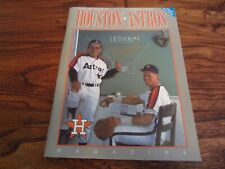 August 1989 Houston Astros Program Magazine Craig Biggio & Yogi Berra RARE Copy