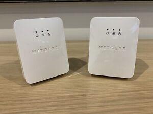 Two Netgear Powerline Adapters Av200 Adapter XAV2001