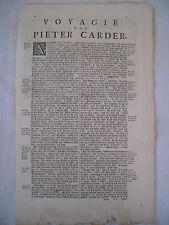 Théodore de BRY -  [Petits Voyages] - Voyage de PIETER CARDER