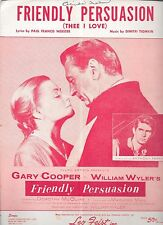 FRIENDLY PERSUASION Film Sheet Music GARY COOPER DOROTHY McGUIRE ANTHONY PERKINS