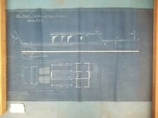 Vintage Original Blueprint C. 1950 - Not a reproduction!