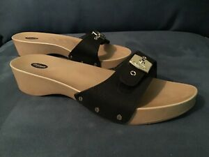 NEW Dr. Scholl's Classic Black EXERCISE SANDAL Advanced Comfort Size 8