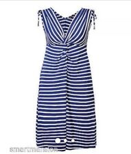 Marks And Spencer Striped Blue White Summer Dress Size 10