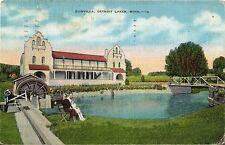 Postcard Minnesota Pelican Rapids Detroit Lakes Dunvilla 1938 Otter Tail County