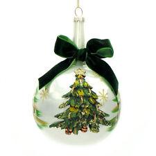 Palla Albero di Natale Shabby Chic Vetro Colore Bianco Versione Albero Diametro