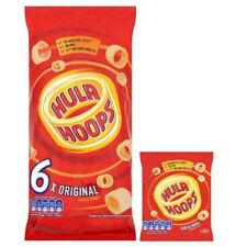 Hula Hoops Original Crisps Chips 6 Pack Sharing Multipack 24g x 6 Salted Snacks