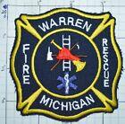 MICHIGAN, WARREN FIRE DEPT RESCUE PATCH