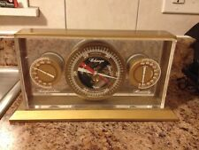VINTAGE 1950s TAYLOR BAROMETER PERSONAL WEATHER STATION BRASS & ACRYLIC RARE WOW