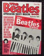 1976 THE BEATLES Appreciation Society Magazine #5 VF 8.0 George Harrison