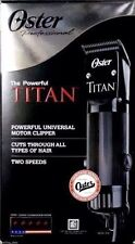 OSTER TITAN 2 Speed Professional Hair Clipper 76076-310 -Blades 000 & 1 Included