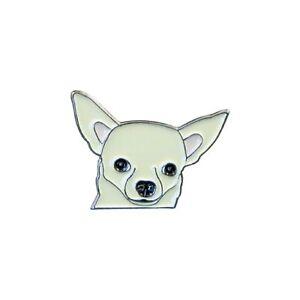 Chihuahua Émail Pins Broche Badge / Mignon Chien Cadeau Neuf avec Étiquette /