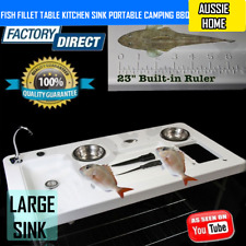 Fish Fillet Table Kitchen Sink Portable Camping Barbecue Outdoor Caravan BBQ
