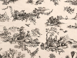 "BLACK TOILE on KRAFT Design Tissue Paper Sheets 15"" x 20"" Choose Package Amount"