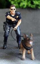 38264 American Diorama Police Officer mit K 9 Schäferhund II 1:24