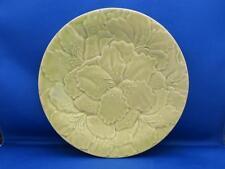 "Bordallo Pinheiro Green Hibiscus Flower Floral Plate Raised Embossed 9.25"""