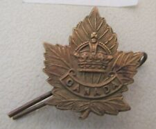 World War 1 Canadian Military Regiment Bronze Collar Badge (39)