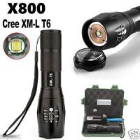 G700 X800 5000 Lumen Torch Zoomable XML T6 LED Military Tactical Flashlight Case