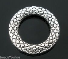 50PCs Soldered Closed Jump Rings Silver Tone 14mm Dia.