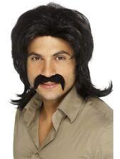 anni '70 nero da uomo Disco Fever Parrucca anni 70 adulto costume