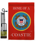Home of Coastie Garden Flag Armed Forces Coast Guard Gift Yard House Banner
