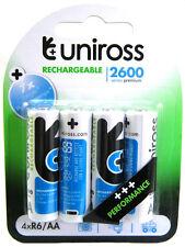 4 x Uniross AA 2600 Series Rechargeable Batteries