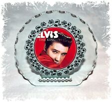 Elvis Presley Round Cut Diamante Plaque With Photo Any Occasion Gift #6
