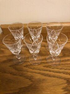 6 X VINTAGE STUART CRYSTAL CANTERBURY PORT WINE GLASSES Marked Stuart ENGLAND