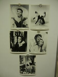 Lot of 5 Judy Garland Studio Stills MINT