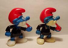 SCHIRI SCHLUMPF Pfeife blau bemalt GM glasig Olympiade der Schlümpfe 1983 ORIG.
