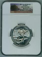 U.S. 2011 5 OZ. SILVER QUARTER DOLLAR OLYMPIC NGC MS-69 PL EARLY RELEASES