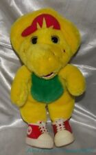"Rare 90s 1994 Plush 13"" Barney Friend Classic Yellow BJ The Dinosaur w/Red Shoes"