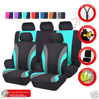 Universal Car Seat Cover Black Mint For TRUCK SUV Split Front Rear Honda Ford